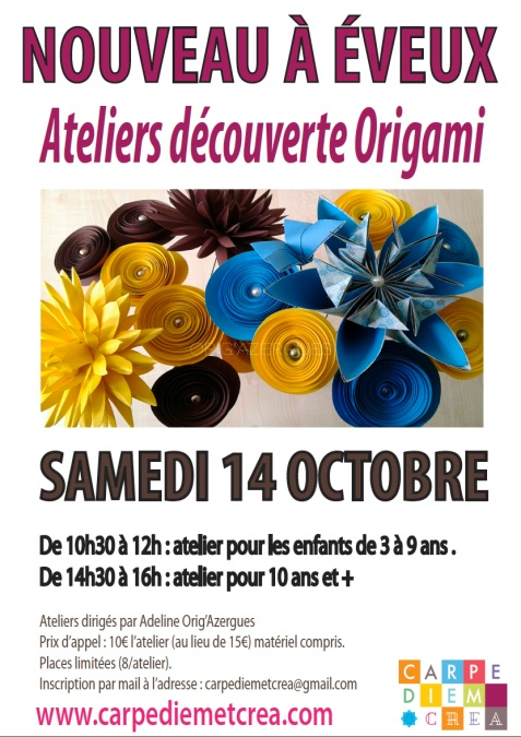 Carpe Diem & Créa Atelier origami oct 2017