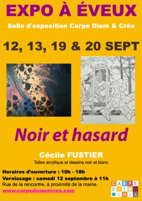 Noir et hasard - Cécile Fustier SEPT 2020